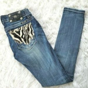 Miss Me Signature-Rise Skinny Jeans Bling Pocket